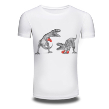 DY 117 3D Printed Box Dinosour T shirts Men s Fall Fashion Person T shirt Cotton