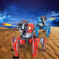 Multiplayer vs. 2,4G Fernbedienung Sechs-legged Spinne Roboter Kühlen RC Roboter DIY Schießen Spiel Modell Kinder Interaktive spielzeug Geschenk