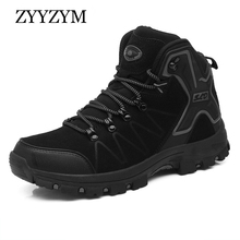 ZYYZYM Men Boots Spring/Autumn Unisex High-Top Outdoor Shoes Non-Slip Comfortable Tourist Wearable Hiking