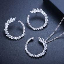 Простые Модные свадебные комплекты ювелирных изделий bilincolor