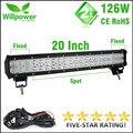 CE ROHS approved waterproof 10100lms 126W led bar offroad driving light led light bar work light 12v