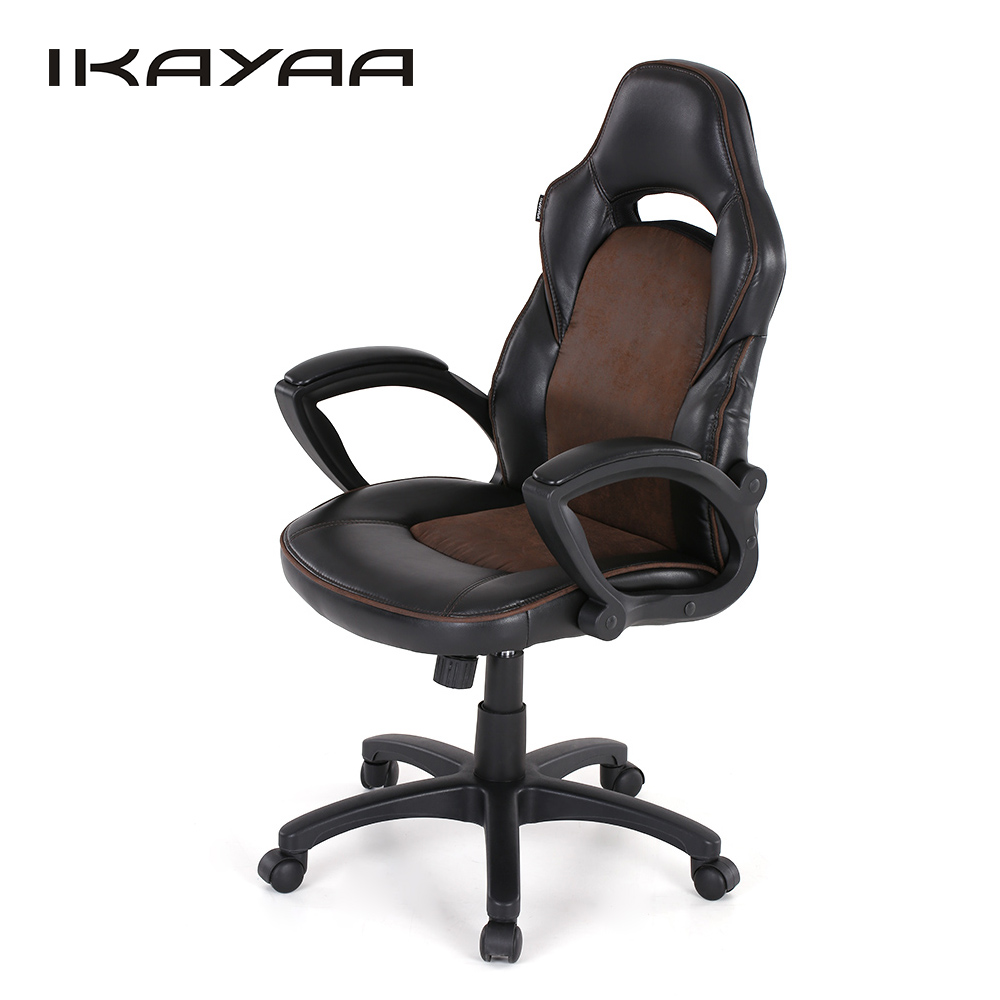 Aliexpress.com : Buy IKayaa US UK Stock PU Racing Executive Office Chair  Swivel High Back Computer Task Desk Chair Bucket Seat Silla Ooficina From  Reliable ...