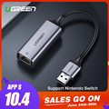 Ugreen USB adaptador Ethernet USB 3.0 2.0 tarjeta de red a RJ45 LAN para Ventanas 10 Xiao mi caja 3 nintendo switch Ethernet USB