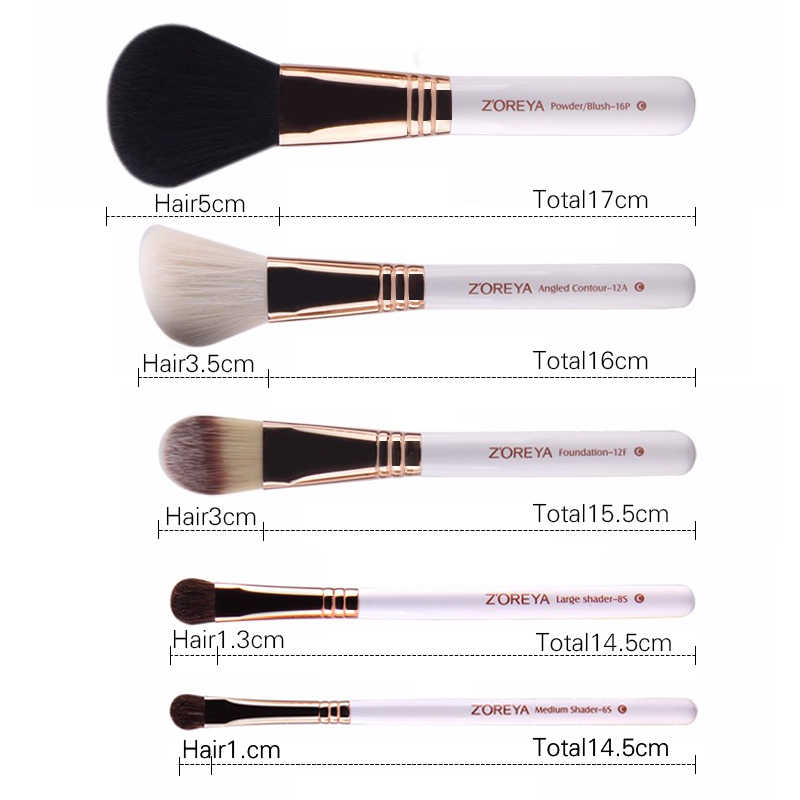 ZOREYA Merek 10Pcs Makeup Sikat Profesional Kosmetik Sikat Foundation Make Up Sikat Set Kualitas Terbaik!