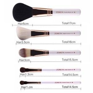 Image 4 - Zoreya ブランド 10 個メイクプロフェッショナル化粧用ブラシファンデーションはブラシセット最高品質!