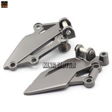 Para kawasaki ex250r/z250 z300 ex300 ninja 250/300 accesorios de la motocicleta pedal reposapiés delantero izquierdo derecho clavija de montaje soporte