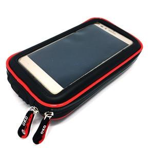 Image 2 - BuzzLee Universal Rail Mount Mobile Phone Holder Waterproof Zipper Case Motorcycle Bike Bicycle Handlebar Mount Holder Stand Bag