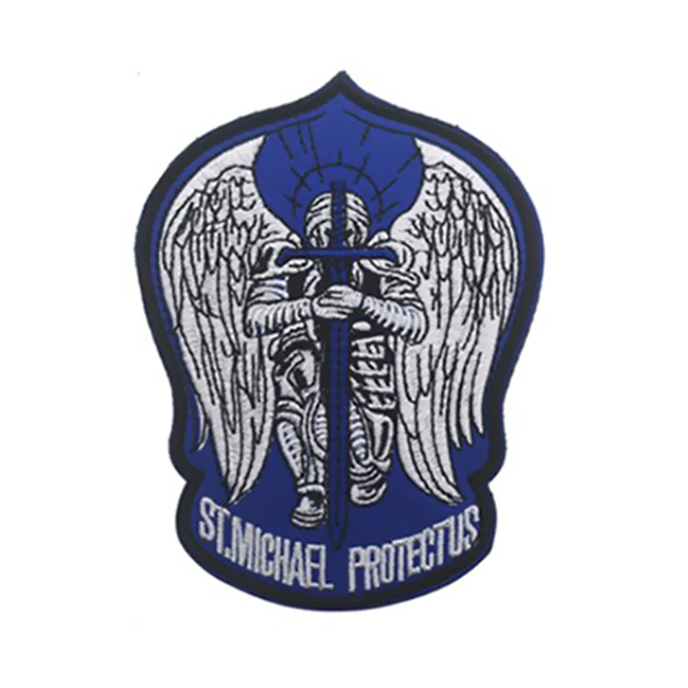 ST MICHAEL SHEPHERD SAINT Embroidered Sew On Cloth Patch Morale Badge  APPLIQUE