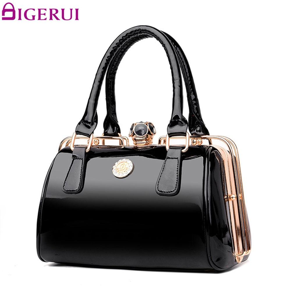DIGERUI Patent Leather Shoulder Bag Ladies Bags Designer Handbags Women Frame Handbag Large Capacity Tote Crossbody Bags A3393