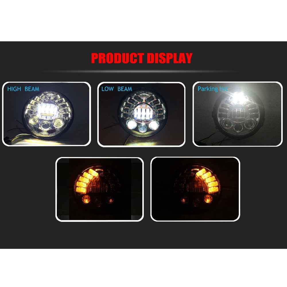 """Image 4 - 80w 7""""For BMW R NineT R9T Daytinme Running Light Led Headlight DRL for Harley Motorcycle Accessories turn signal parking light"""