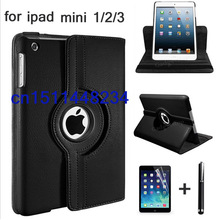 360 Rotation PU Leather case for Apple ipad mini1 2 3 Smart case flip cases stand