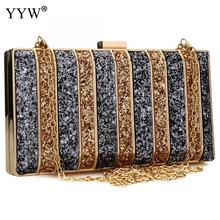 Luxury Women Bags Designer Evening Party Bag For Female Gold Mini Sequins Clutch Bag Lady'S Handbag Purse Chain Crossbody Bag