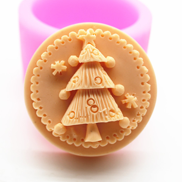 3d Tree Soap Mould Handmade Food Grade Silicone Round SOAP Making Mold DIY Cake Baking Tool Child Decorating Gift in Soap Molds from Home Garden