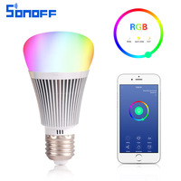 Sonoff B1 Led Dimmer Wifi Smart Light Bulbs Remote Control Light Switch Color Changing Rgb Bulb