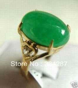 สีเขียวjadesขนาดแหวนผู้หญิง's 7 8 9 #