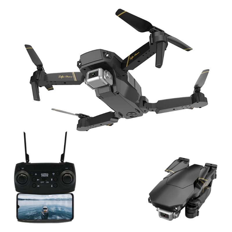 Premium New GD89 WIFI FPV 480P 1080P HD Camera Altitude Hold Mode Foldable RC Drone RTF