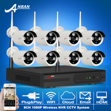 8CH Wireless NVR Plug And Play CCTV System+3TB HDD&P2P 1080P HD Outdoor+Indoor Weatherproof Night-Vision IR Security Camera Kit