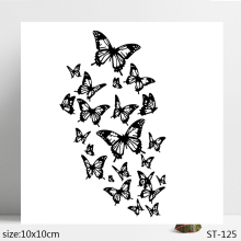 ZhuoAng Butterfly group Clear Stamp  Seal for DIY Scrapbooking Photo Album Card Making Decoration Supply
