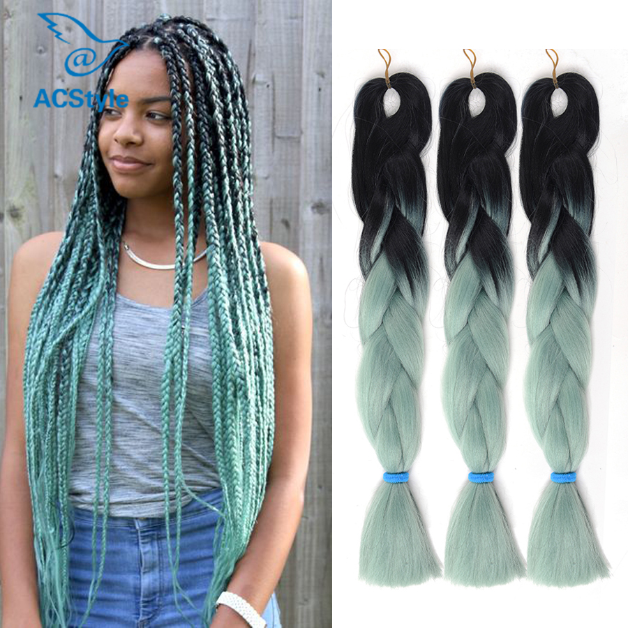 Black green ombre hair