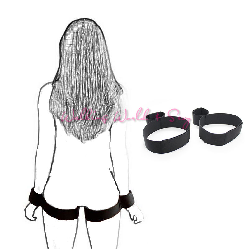 Nylon Bondage Hand Cuffs To Thigh Cuffs Kit Sex Flirt Bondage Restraints Fetish Adult Game Sex Products For Couples Erotic Toys