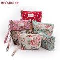 Miyahouse nuevo vintage floral impreso mujeres bolsa bolsa de cosméticos bolsas de maquillaje femenino cremallera cosméticos bolsa de maquillaje bolsa de viaje portátil