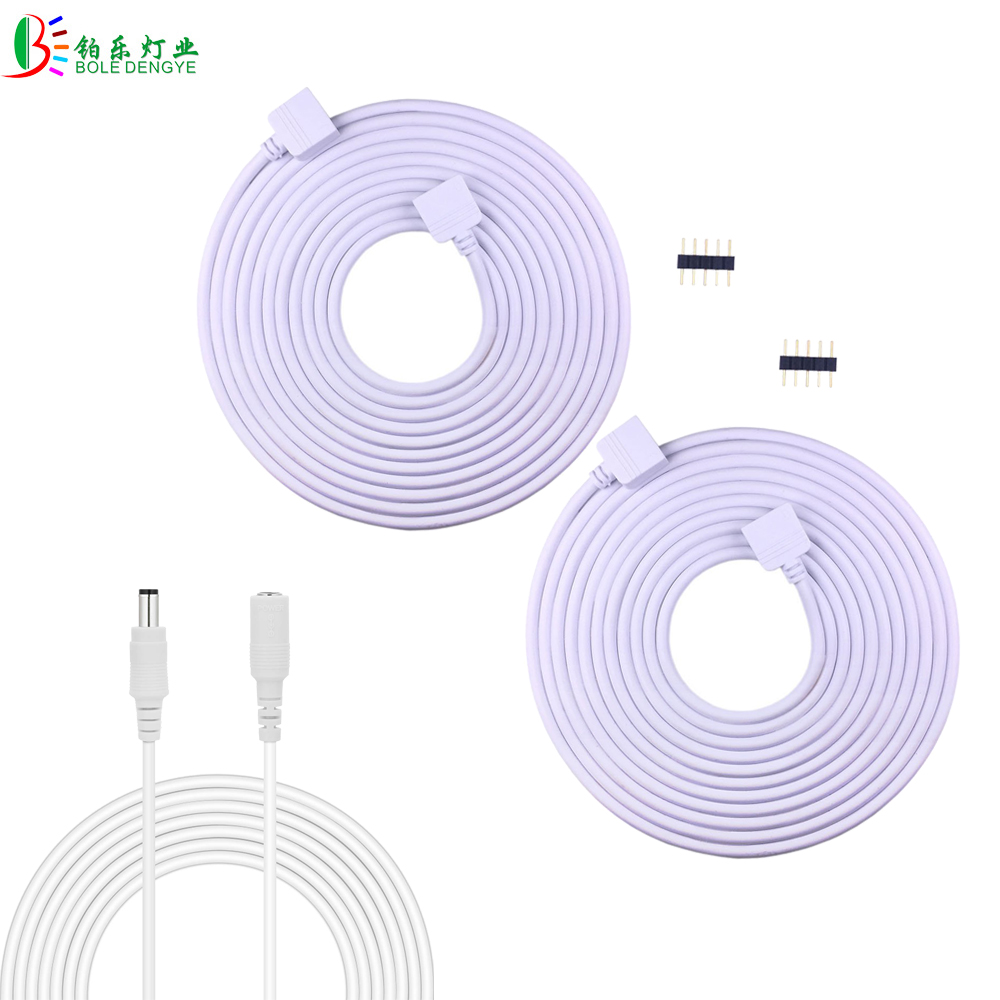 5m 4 Pin Rgb Led Connector Extension Cable Cord Wire With 4pin For