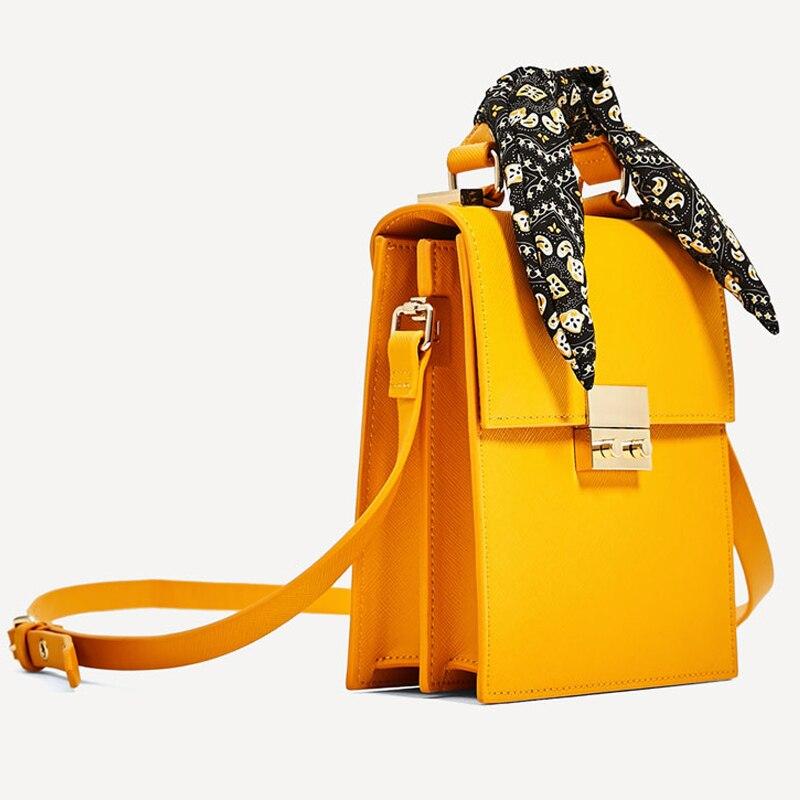 3 Colors Fashion Scarf Bow Shoulder Messenger Bag High Quality Famous Design Women Leather Handbags and Purse Louis Channels Bag 95 120usd popular high quality ba lovely retro fashion handbags messenger double back college bai le li 3 22