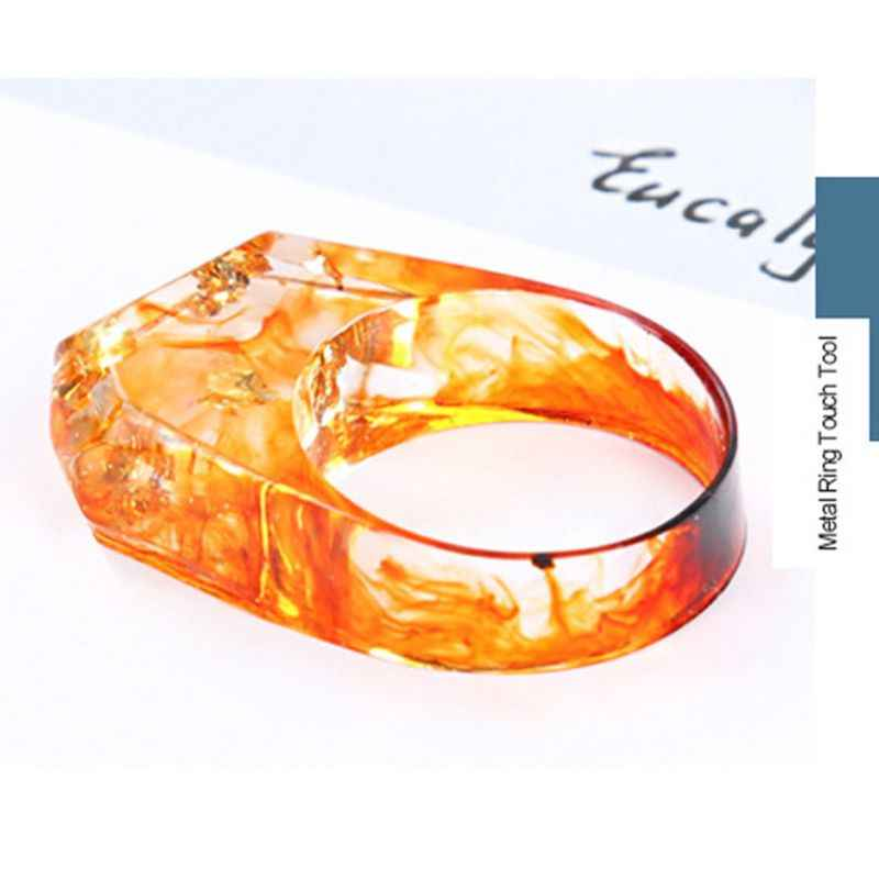 v1 Pc Epoxy Resin Ring Mold Broken Art Resin Metal Ring Silicone Mold US  Size 7-9 DIY Ring AccessoriesJewelry Making