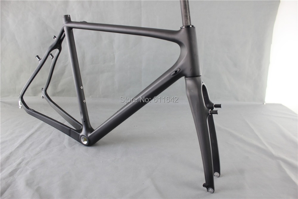 ICAN Full Carbon UD Matt V brake Cyclocross Bike BSA Frame (Full ...