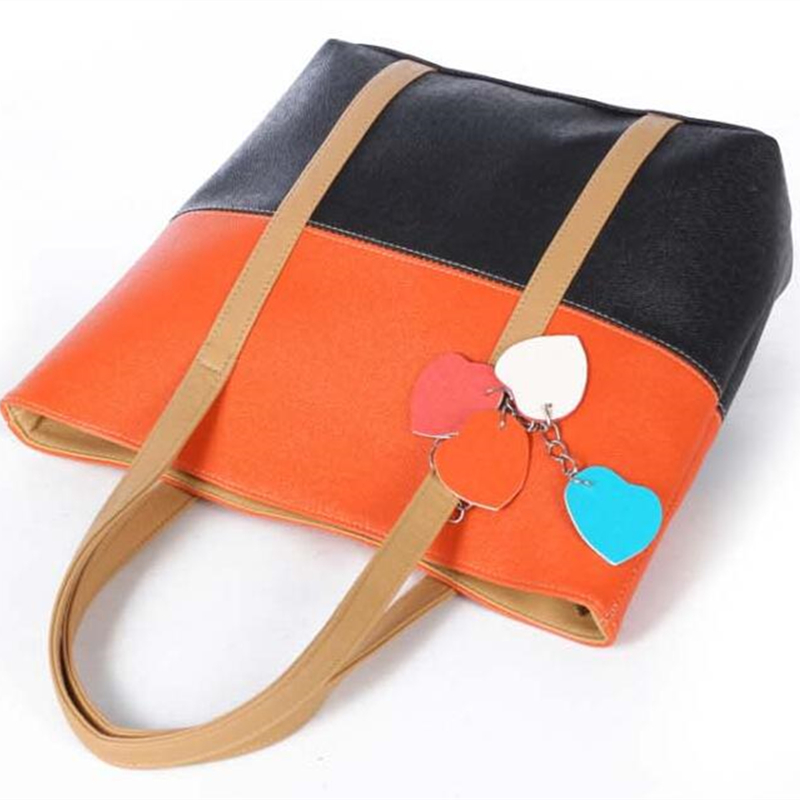 New Style Gils Shopping Bag Colorful PU HandBag Large Capacity Tote Women Bags Ladies Shopper Shoulderbag Bolsa Big sales