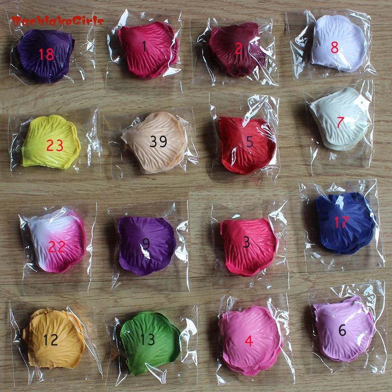Hot Sale Wholesale 1000pcs/lot Wedding Decorations Romantic Artificial Flowers Polyester Wedding Rose Petals