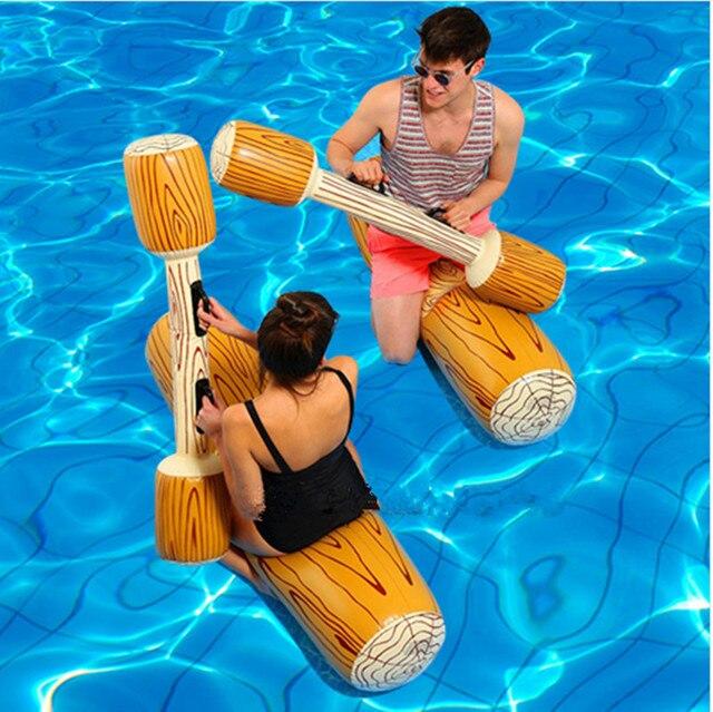 f691e88e5641 4 piezas de juegos inflables para deportes acuáticos niños, suministros  fiestas adultos, Gladiador, balsa, piscina, flotador, juguetes