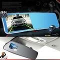 Dual Câmera Dupla Full HD 1080 P Carro DVR Caixa Preta Espelho retrovisor com Câmera Traseira De Estacionamento Reverso Detector de Movimento G Sensor de