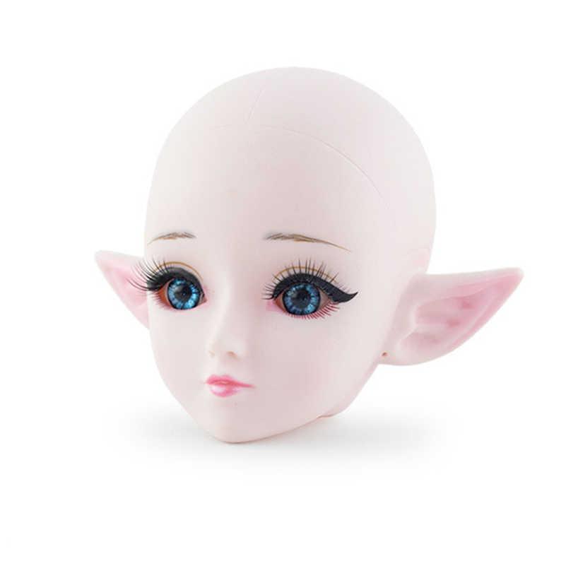 60 cm 21 Verbunden Bjd Puppe Spielzeug 3D Augen Elf Glatze Nackt Körper Weibliche Puppe Bareheaded Edelstahl Stand puppen Spielzeug Für Mädchen