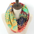Hot Fashion Colorful Chevron Stripes Ring Scarf Woman Winter Zig Zag Print Loop Scarves Nice Plaid Geometric Infinity Shawl