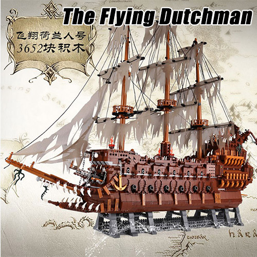 3652pcs Pirates of the Caribbean MOC Series The Flying Dutchman Building Blocks Bricks Toys Compatible With Legoings lepin 16016 3652pcs movie series flying the dutch blocks bricks toys for children compatible legoing pirates caribbean