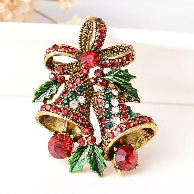 Купить модные рождественские подарки заколки и броши для женщин маленькие
