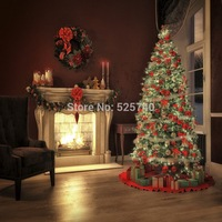 5 7FT Customize Background Photography Studio Backdrop Christmas Tree Fireplace Flower Digital Printing Backgrounds