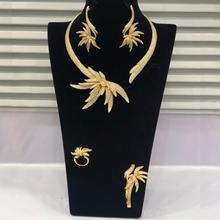 Godki Luxe Palm Boom Blad Nigeriaanse Choker Sieraden Sets Voor Vrouwen Wedding Kubieke Zirkoon Cz Dubai Gold Bruids Sieraden Set 2019