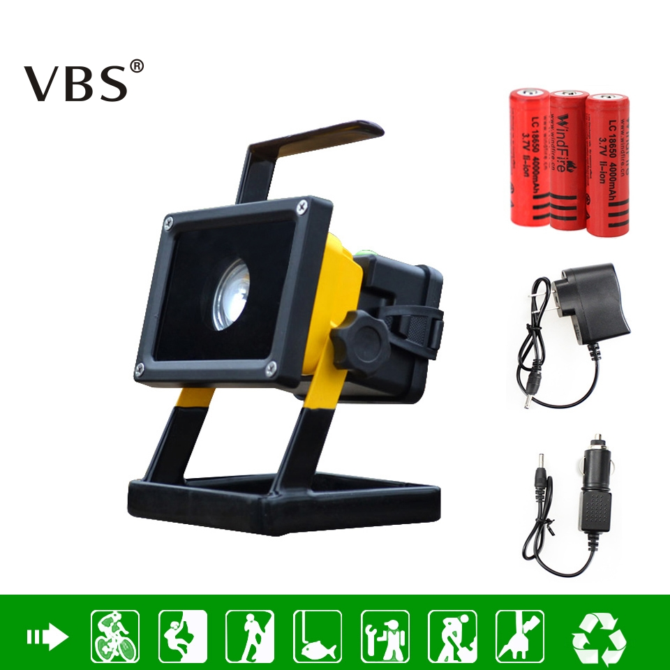 T6 Movable Spotlight  Rechargeable Portable Light  LED FloodLight Outdoor Searchlight Include 3*18650 Battery And Charger 30% off 2pcs ultrathin led flood light 50w black ac85 265v waterproof ip66 floodlight spotlight outdoor lighting free shipping