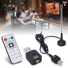 Mini USB 2.0 dijital DVB T SDR + DAB + FM HDTV Tuner kaliteli TV anten Dongle sopa Video yayın anteni dvb t alıcısı
