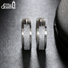 Effie Queen Small Hoop Earring for Women Girls Dull Polished 316L Stainless Steel Earrings for Men Puck Rock Jewelry 2017 IE02