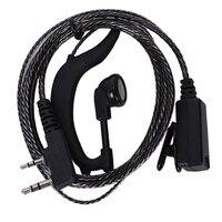 עבור baofeng 2pcs 2 פין G-Shape אוזניות PTT אוזניות & Micophone עבור Baofeng 2 Way רדיו (1)