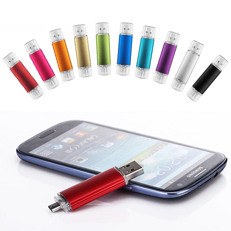 Promotion The OTG Phone USB Flash Drive Universal Smart Phone OTG USB Pen Pendrive 8gb 16gb 32gb 64g 128gb U Disk