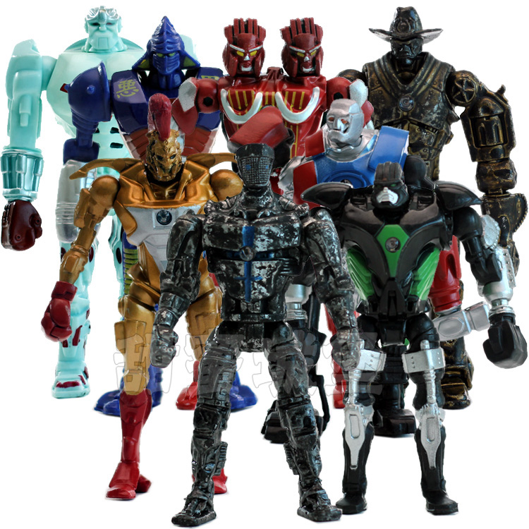 8pcs/set Real Steel PVC Action Figures Collectible Model Dolls Toys Kids Gifts KT477 12pcs set children kids toys gift mini figures toys little pet animal cat dog lps action figures