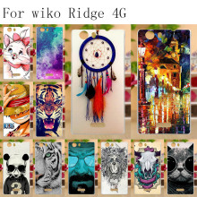 цена на Anunob Capa Para Wiko Ridge 4G Case Silicone Wiko Ridge 4G Covers Cases Soft TPU Painting Coque for Wiko Ridge 4G 5.0 Bumper
