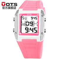 OTS Digital Watches Children Girls Birthday Gift Digital LED Display Watch Calendar Clock Sports Waterproof Kids Wristwatch