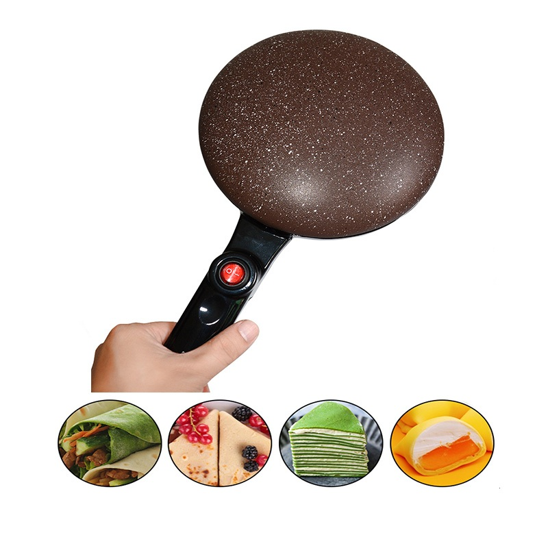 Portable Electric Crepe Maker Machine Pizza Pancake Machine Non stick Griddle Baking Pan Cake Machine Kitchen Cooking Tools