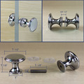pair of chrome shower room door knob handle polished double side 30mm back to back