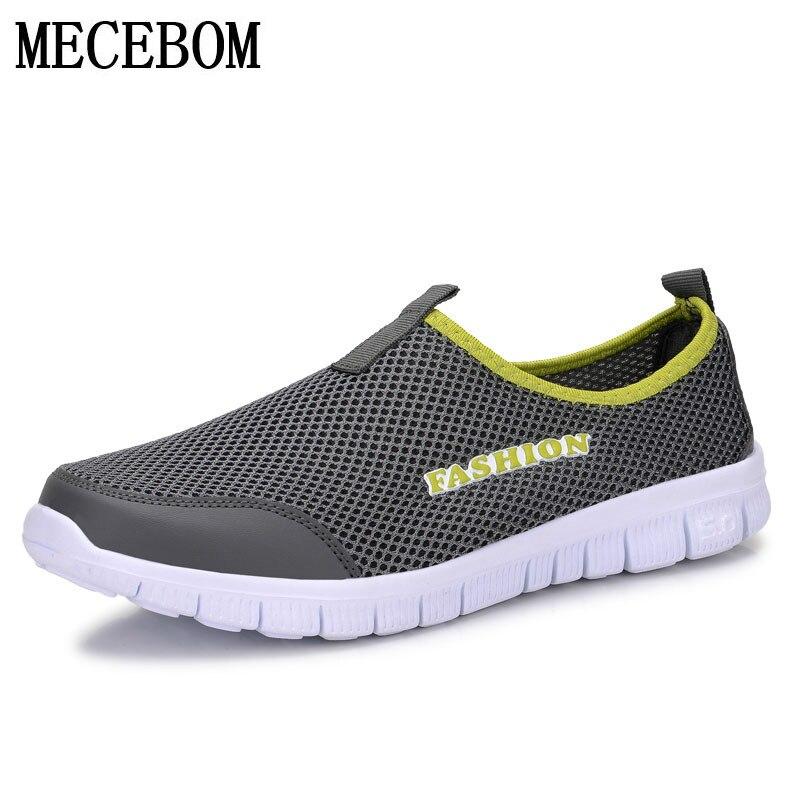 Herren Sommer Schuhe Plus Größe 35-46 Bequeme Männer Freizeitschuhe Mesh Atmungs Loafers Slip-on Schuhe A01m